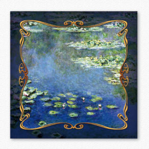 "post-er-card ""Ninfee"" 1907 – Claude Monet"
