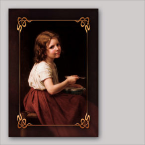 "post-er-card – W.-A. Bouguereau ""La minestra"""
